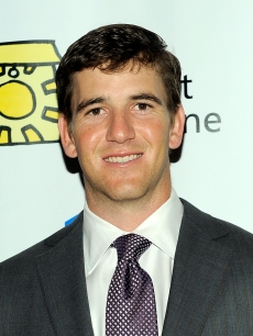 Eli Manning poses for photos at the 7th Annual Project Sunshine Benefit at The Waldorf Astoria, NYC, May 11, 2010
