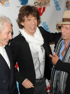 Charlie Watts, Mick Jagger, and Keith Richards attend the re-release of The Rolling Stones' 'Exile on Main St.' album