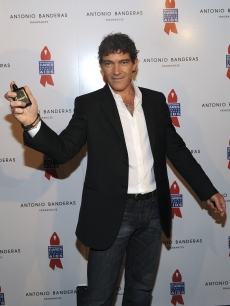 Antonio Banderas introduces his new fragrance, 'The Secret,' and his first collection of photographs, 'Secrets on Black,' at Instituto Cervantes in New York City on May 12, 2010