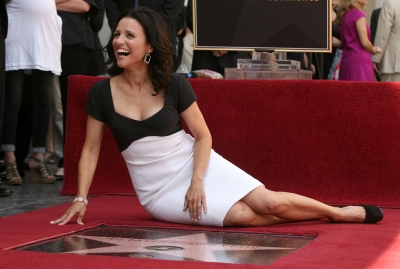 Julia Louis-Dreyfus attends the Hollywood Walk of Fame ceremony honoring her on May 4, 2010 in Hollywood
