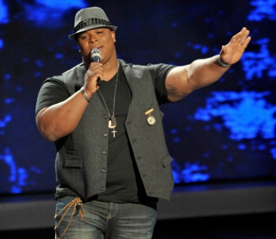 Michael Lynche performs one last time on 'American Idol' on May 12, 2010
