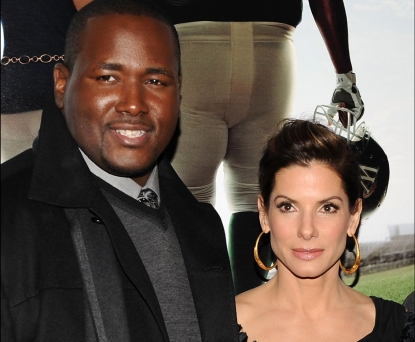 Quinton Aaron and Sandra Bullock in November 2009