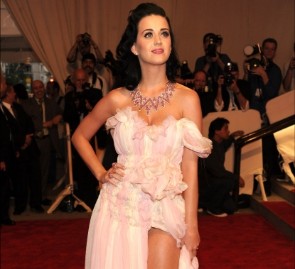 Katy Perry attends the Costume Institute Gala Benefit to celebrate the opening of the 'American Woman: Fashioning a National Identity' exhibition at The Metropolitan Museum of Art on May 3, 2010 in New York Cit