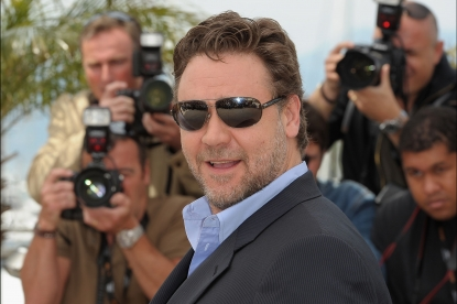 Russell Crowe attends the 'Robin Hood' photocall at the Palais des Festivals during the 63rd Annual Cannes Film Festival in Cannes, France on May 12, 2010