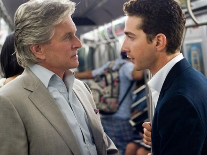 Michael Douglas and Shia LeBeouf in 'Wall Street: Money Never Sleeps'