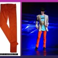 Michael Jackson in 2009&#8217;s &#8216;This Is It&#8217; - his orange pants are up for auction on May 20, 2010