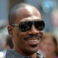 Eddie Murphy smiles at the premiere of 'Shrek Forever After' in LA on May 16, 2010