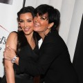Kim Kardashian and Kris Jenner share a moment a clothing drive benefiting 'My Friend's Place' hosted by Kelly Osbourne at MI-6 in West Hollywood, California on May 26, 2010