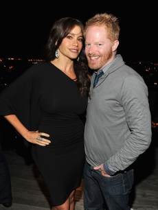 &#8216;Modern Family&#8217; stars Sofia Vergara and Jesse Tyler Ferguson attend the NY Upfronts celebration with Entertainment Weekly and 20th Century Fox Television at Cooper Square Penthouse in New York City on May 16, 2010 