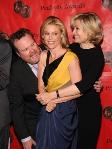 Eric Stonestreet, Julie Bowen and Diane Sawyer attend the 69th Annual Peabody Awards at The Waldorf Astoria, NYC, May 17, 2010