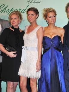 Barron Nicholas Hilton, Kathy Hilton, Nicky Hilton, Paris Hilton and Rick Hilton attend the Chopard 150th Anniversary Party at Palm Beach, Pointe Croisette during the 63rd Annual Cannes Film Festival on May 17, 2010