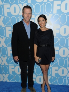 Hugh Laurie and Lisa Edelstein attend the 2010 FOX Upfront after party at Wollman Rink, Central Park, NYC, May 17, 2010