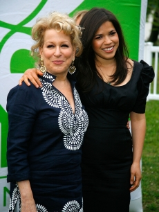 Bette Midler and America Ferrera attend the New York Restoration Project's 9th Annual Spring Picnic at Fort Washington Park, NYC, May 17, 2010