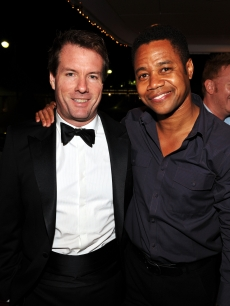 Michael Saylor and Cuba Gooding Jr. attend the 'Art of Elysium Paradis Dinner and Party' at Michael Saylor's Yacht, Slip S05 during the 63rd Annual Cannes Film Festival on May 19, 2010