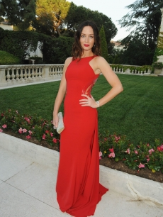 Emily Blunt is ravishing in red at the amfAR Cinema Against AIDS benefit, during the 63rd Cannes international film festival in Cap d&#8217;Antibes, France on May 20, 2010