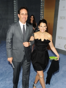 Jerry and Jessica Seinfeld attend the 'Sex and the City 2' premiere at Radio City Music Hall, NYC, May 24, 2010