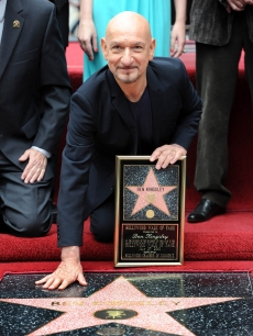 Sir Ben Kingsley is honored with the 2,410th Star on the Hollywood Walk of Fame on May 27, 2010 in Hollywood