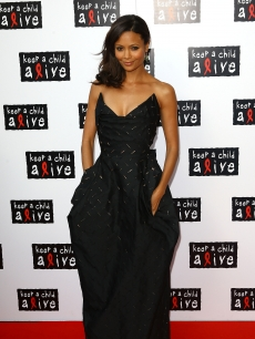 Thandie Newton walks the red carpet at the Keep A Child Alive Black Ball fundraiser on in London on May 27, 2010