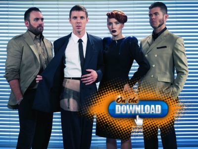 Scissor Sisters pose in a promo shot to promote their new album, 'Night Work'
