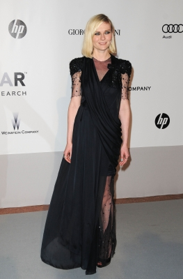 Kirsten Dunst arrives in a black ensemble at the amfAR Cinema Against AIDS benefit gala in Cap d&#8217;Antibes, France on May 20, 2010 