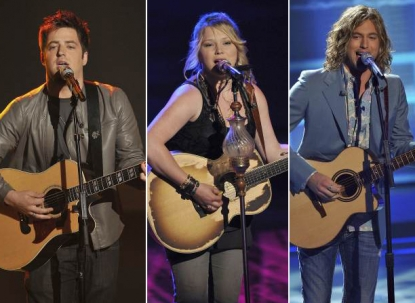 Lee DeWyze, Crystal Bowersox, Casey James