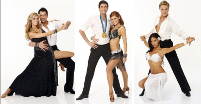Erin and Maks, Evan and Anna, Nicole and Derek from Season 10 of 'Dancing'