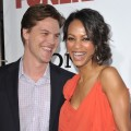 Keith Britton and Zoe Saldana arrive to the &#8216;Death At A Funeral&#8217; Los Angeles premiere in Hollywood, California on April 12, 2010 