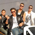 The 'Jersey Shore' guys  make the scene at the 2010 MTV Movie Awards at the Gibson Ampitheatre in LA on June 6, 2010