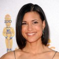 Julia Jones arrives at the 2010 MTV Movie Awards held at the Gibson Amphitheatre at Universal Studios in Universal City, California on June 6, 2010