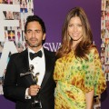 Jessica Biel poses with designer Marc Jacobs at the CFDA Fashion Awards at Alice Tully Hall, Lincoln Center in New York City on June 7, 2010