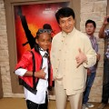 Jaden Smith and Jackie Chan pose at the 'The Karate Kid' premiere after party at Mann Village Theatre in Westwood, Calif., on June 7, 2010