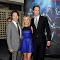 Stephen Moyer, Anna Paquin and Alexander Skarsgard arrive at the premiere of HBO's 'True Blood' Season 3 at The Cinerama Dome in Hollywood, California on June 8, 2010