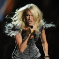 Carrie Underwood performs at the CMT Music Awards at the Bridgestone Arena in Nashville on June 9, 2010