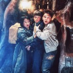 Ke Huy Quan, Sean Astin and Corey Feldman in &#8216;The Goonies&#8217;
