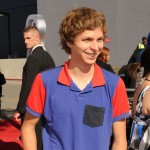 Michael Cera smiles at the 2010 MTV Movie Awards at the Gibson Ampitheatre in LA on June 6, 2010