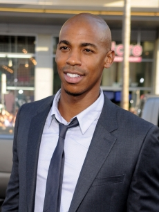 Mehcad Brooks smiles for the camera at the premiere of 'Splice' at the Grauman's Chinese Theatre in Hollywood, Calif. on June 2, 2010
