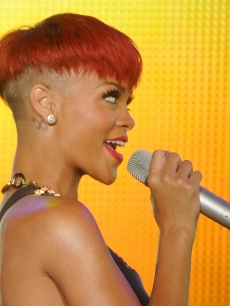 Rihanna performs during Rock in Rio Madrid 2010, at the Ciudad del Rock on June 5, 2010 in Arganda del Rey, Spain