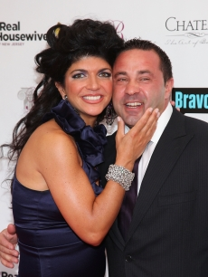 Teresa Giudice and husband Joe Giudice attend &#8216;The Real Housewives of New Jersey&#8217; season two premiere at The Brownstone in Paterson, New Jersey on May 3, 2010