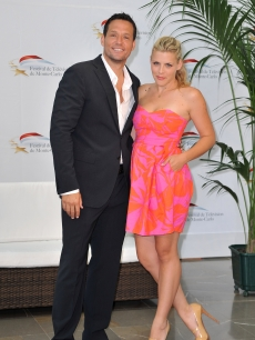Josh Hopkins and Busy Philipps pose at a photocall for 'Cougar Town' during the Monte Carlo Television Festival at Grimaldi Forum in Monte-Carlo, Monaco on June 8, 2010