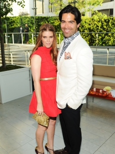 Kate Mara looks radiant in red next to designer Brian Atwood at the CFDA Fashion Awards at Alice Tully Hall, Lincoln Center in New York City on June 7, 2010