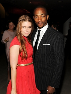 Kate Mara and Anthony Mackie pose arm in arm at the CFDA Fashion Awards at Alice Tully Hall, Lincoln Center on June 7, 2010 in New York City