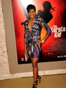 Regina King shines at the 'The Karate Kid' premiere after party at Mann Village Theatre in Westwood, Calif.