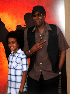 Arsenio Hall poses with son Arsenio Hall Jr. at the 'The Karate Kid' premiere after party at Mann Village Theatre in Westwood, Calif., on June 7, 2010