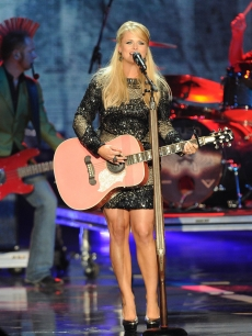 Miranda Lambert shines as she performs at the CMT Music Awards at the Bridgestone Arena in Nashville on June 9, 2010