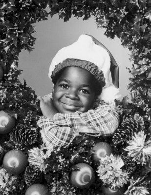 A young Gary Coleman gets in the Christmas spirit in a promo shot for 'Diff'rent Strokes' in 1979