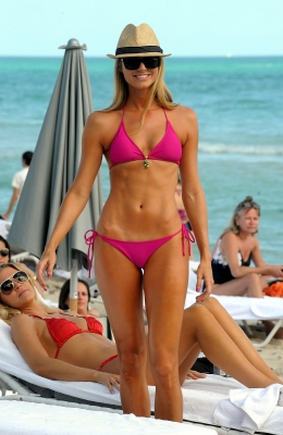 Stacy Keibler poses for the camera in Miami Beach, Florida 