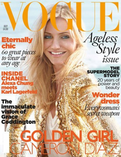 Cameron Diaz on the July 2010 cover of British Vogue