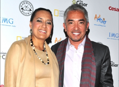 Cesar Millan and then-wife Ilusion in 2009