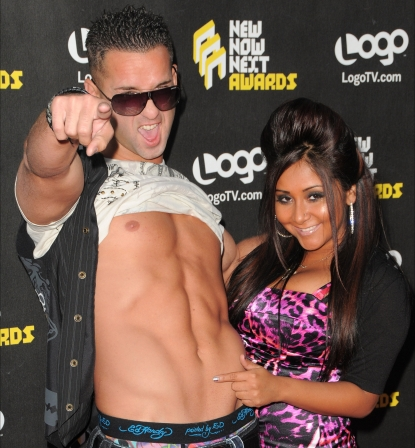 Mike &#8216;The Situation&#8217; Sorrentino and Nicole &#8216;Snookie&#8217; Polizzi arrive at Logo&#8217;s &#8216;NewNowNext Awards 2010&#8217; at The Edison in Los Angeles, California on June 8, 2010 