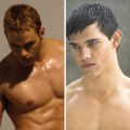 &#8216;Twilight&#8217;s&#8217; Kellan Lutz and Taylor Lautner go shirtless!